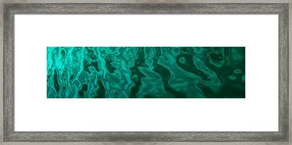 The Emerald Wave Framed Print