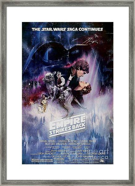 The Empire Strikes Back Framed Print by Baltzgar