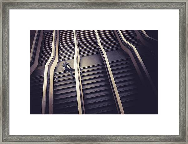 The Empty Train Framed Print