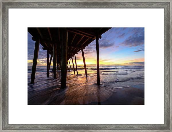The Enchanted Pier Framed Print