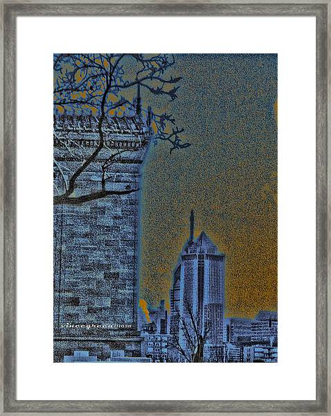 The Encroachment Upon Art Framed Print