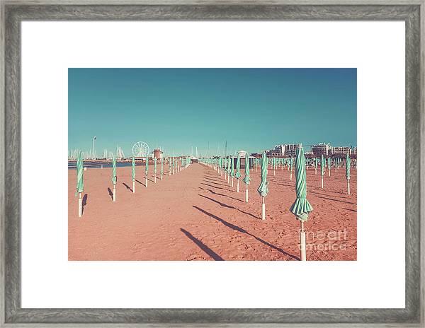The End Of Summer Season  Framed Print