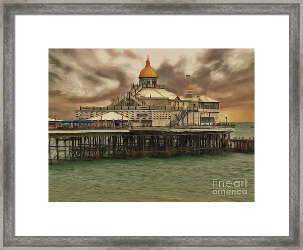The End Of The Pier Show Framed Print