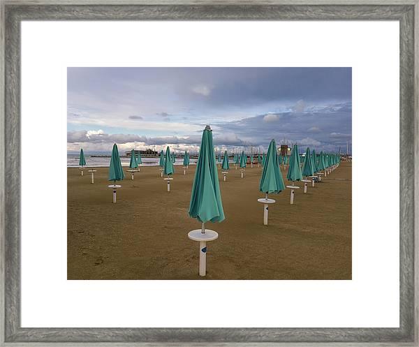 The End Of The Season In Rimini Framed Print