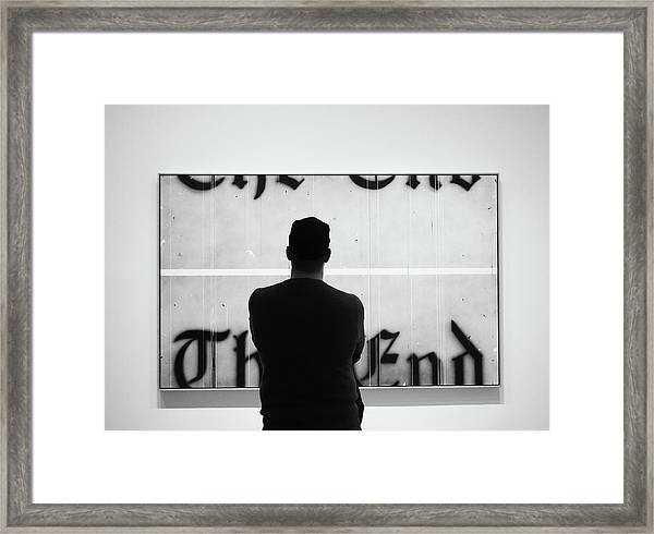 The End Framed Print