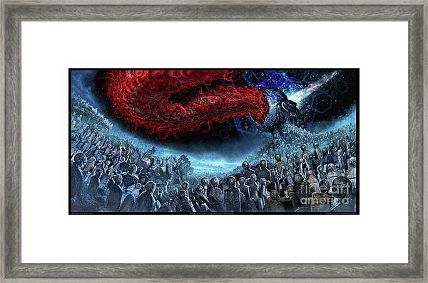 The Essence Of Time Matches No Flesh Framed Print