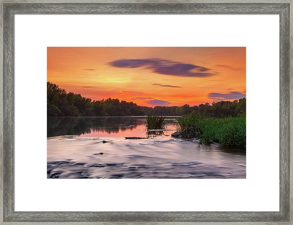 The Eve On The River Framed Print