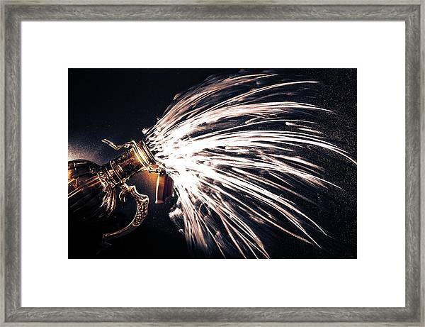 The Exploding Growler Framed Print