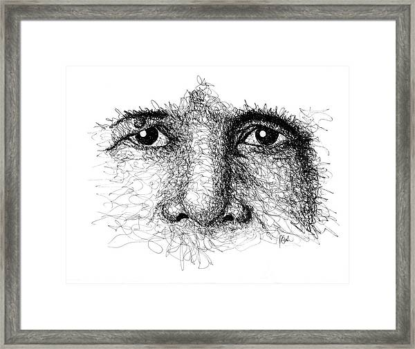 The Eyes Of Thich Nhat Hanh Framed Print