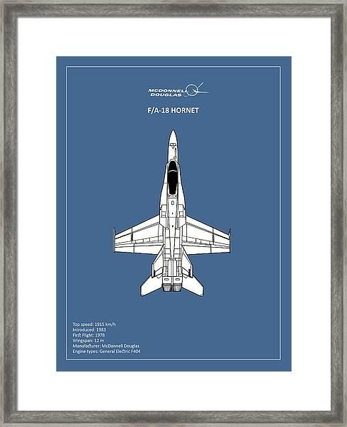 The F-18 Hornet Framed Print