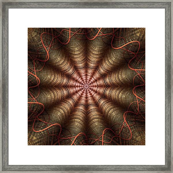 The Fabric Of The Space-time Continuum Framed Print