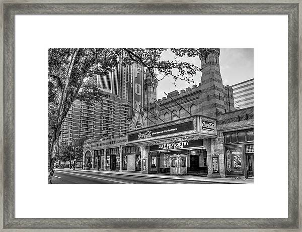 The Fabulous Fox Theatre Bw Atlanta Georgia Art Framed Print