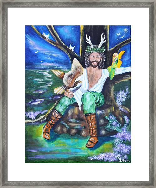 The Faery King Framed Print