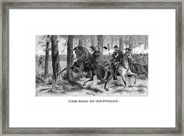 The Fall Of Reynolds - Civil War Framed Print