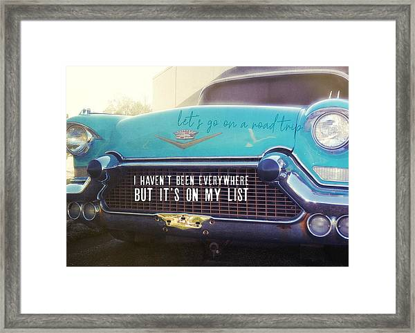 The Famous 57 Seville Quote Framed Print
