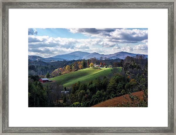 The Farm On The Hill Framed Print