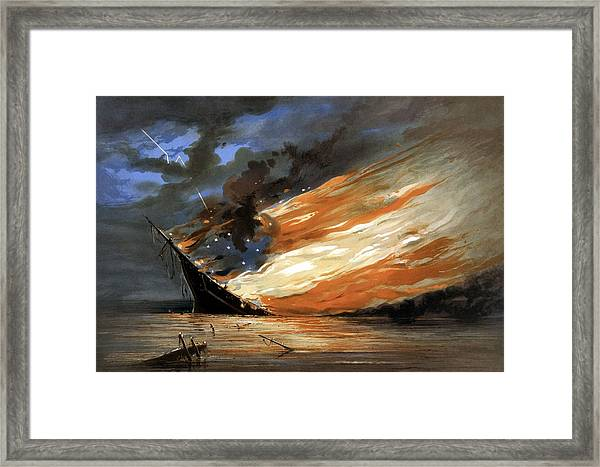 The Fate Of The Rebel Flag Framed Print