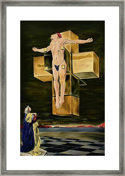 The Father Is Present -after Dali- Framed Print