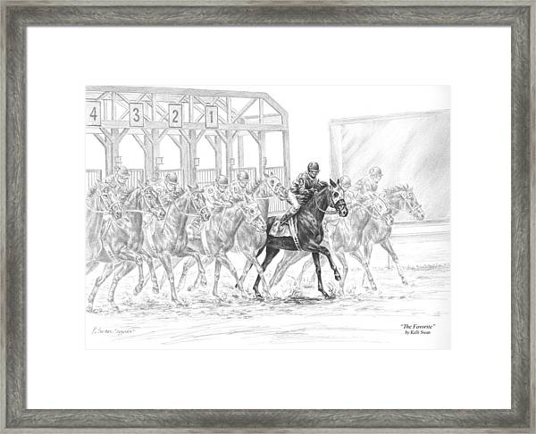 The Favorite - Horse Racing Art Print Framed Print