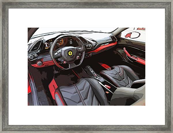The Ferrari 488 2016 Framed Print