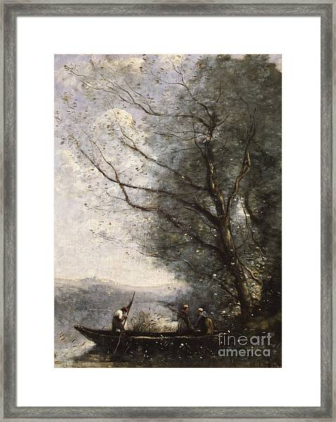 The Ferryman, Circa 1865 Framed Print