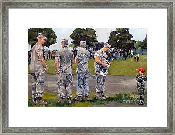 The Few The Proud Framed Print