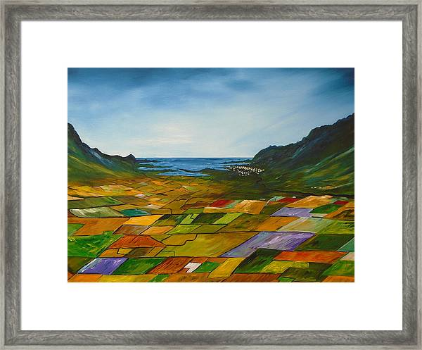 The Fields Of Dingle Framed Print