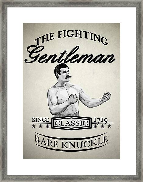 The Fighting Gentlemen Framed Print