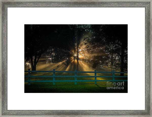 The First Day Of Creation Framed Print