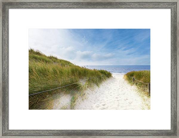 The First Look At The Sea Framed Print