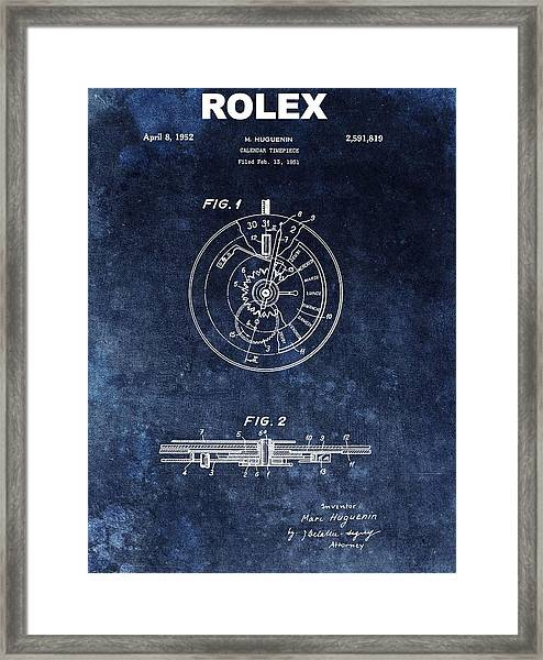 The First Rolex Patent Framed Print