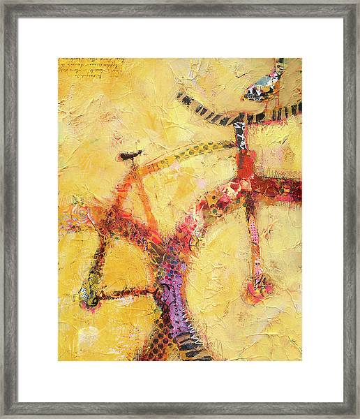 Framed Print featuring the painting The Fix by Shelli Walters