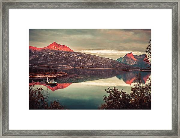 The Flames Framed Print