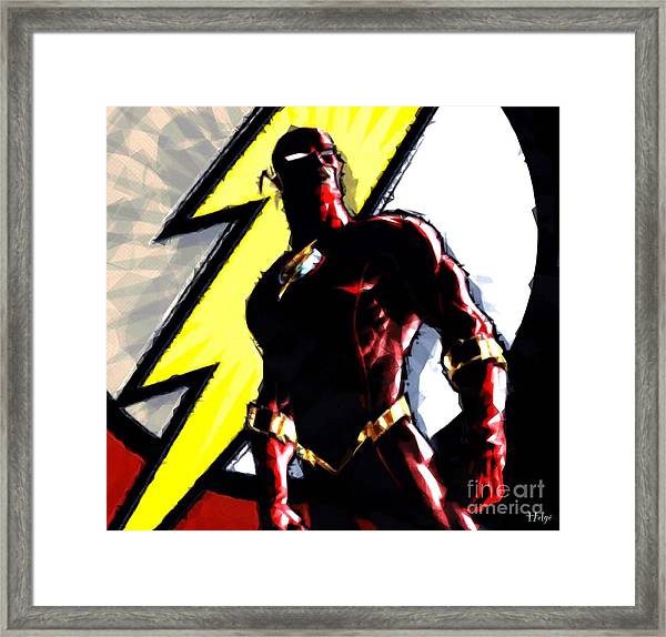 The Flash Framed Print