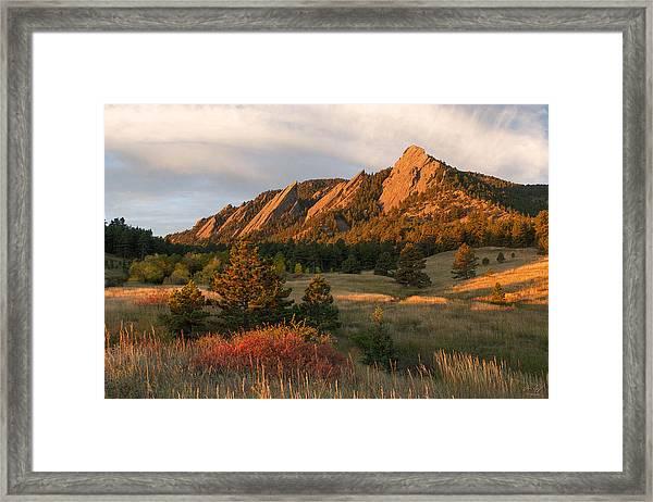 The Flatirons - Autumn Framed Print