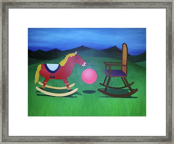 The Floating In-between Framed Print
