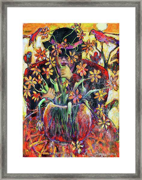 The Flower Arranger Framed Print