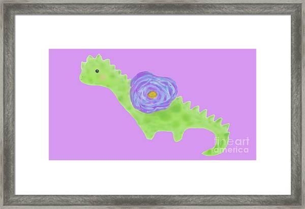 The Flower Dinosaur  Framed Print