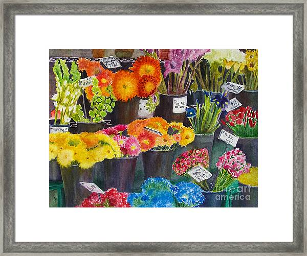 The Flower Market Framed Print