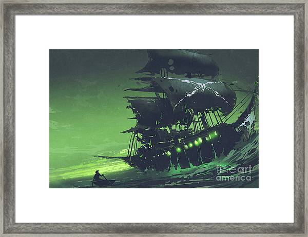 Framed Print featuring the painting The Flying Dutchman by Tithi Luadthong