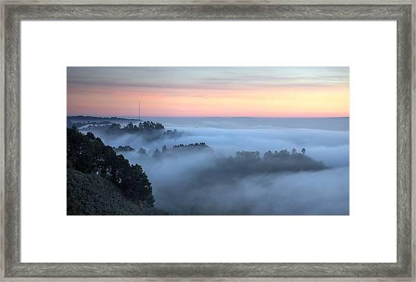 The Fog Kept On Rolling In Framed Print