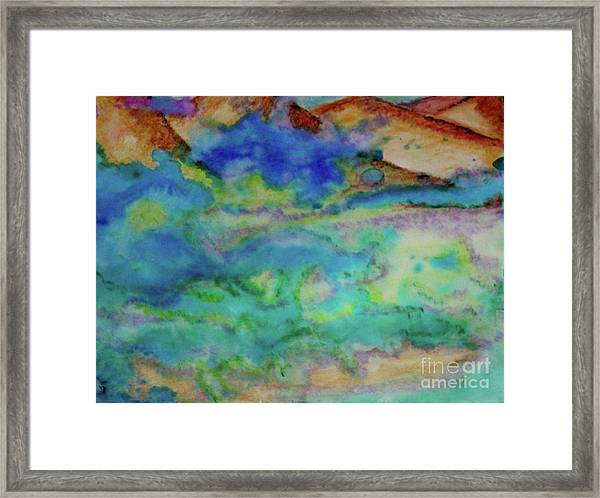 The Fog Rolls In Framed Print