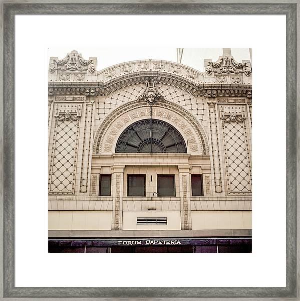 The Forum Cafeteria Facade Framed Print
