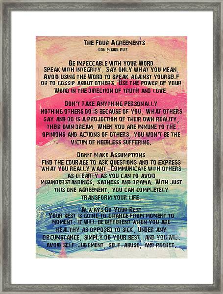 The Four Agreements 11 Framed Print