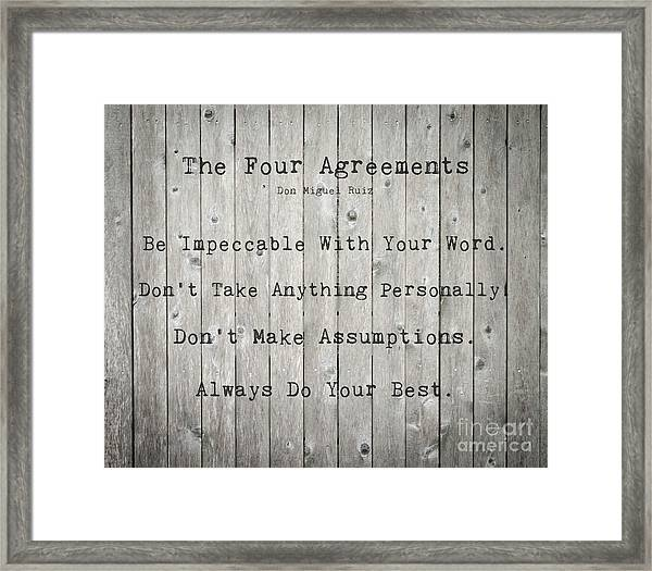 The Four Agreements 12 Framed Print