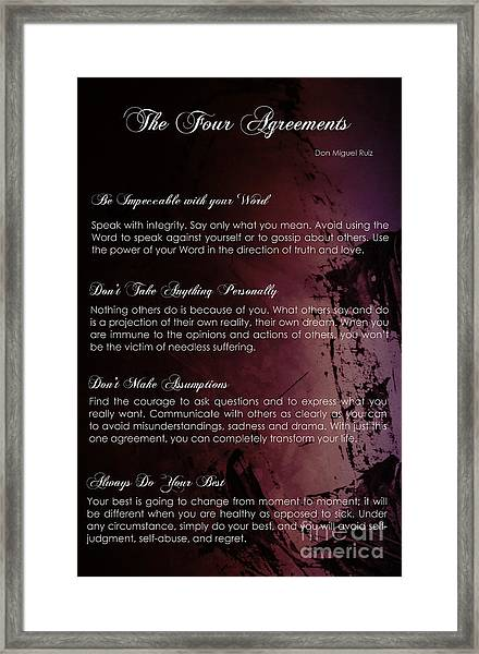 The Four Agreements 3 Framed Print