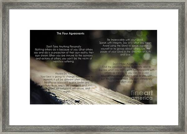 The Four Agreements 4 Framed Print