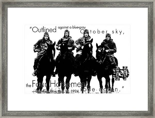 The Four Horsemen Of Notre Dame Framed Print