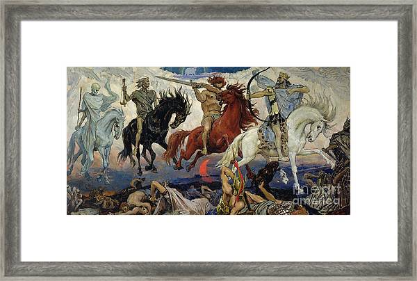 The Four Horsemen Of The Apocalypse Framed Print