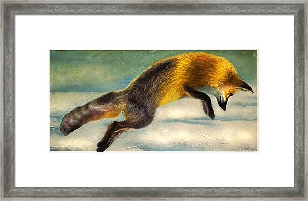The Fox Hop Framed Print